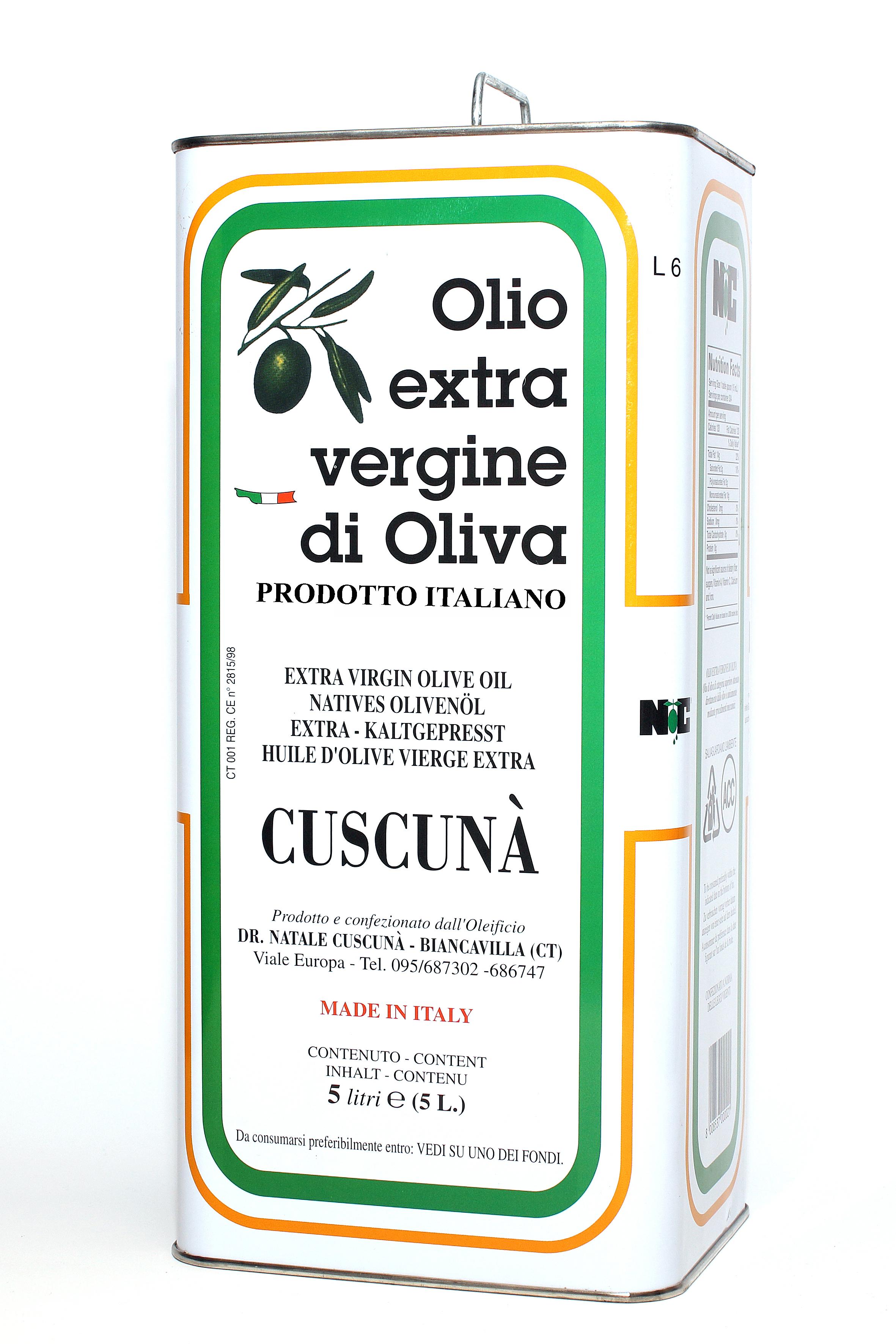 Olio evo italiano 5lt
