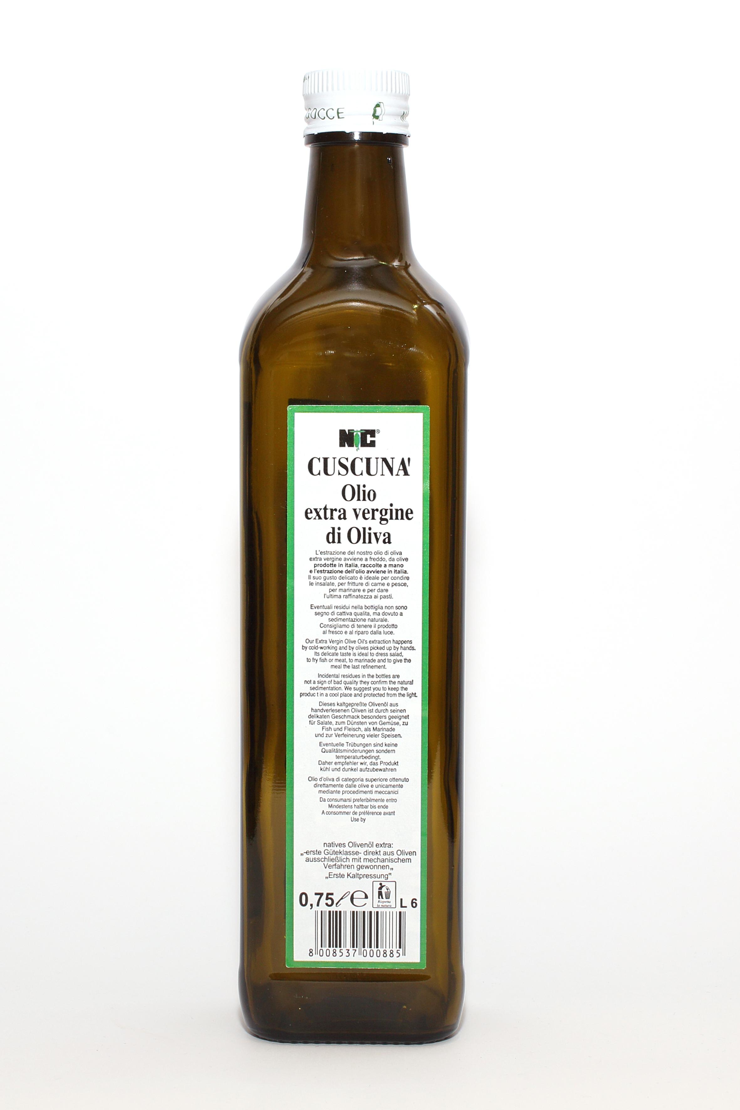 Olio Cuscunà da 0,75